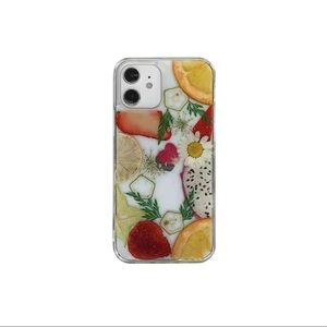 Real Dried fruit pressed flower phone case
